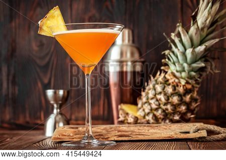 Glass Of Downhill Racer Cocktail