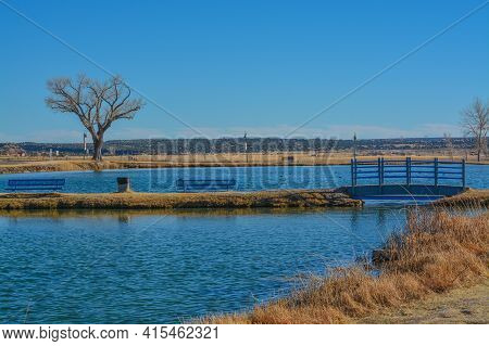 The Santa Rosa Pond Is For Minors And Seniors Fishing Only. Located In Santa Rosa, Guadalupe County,
