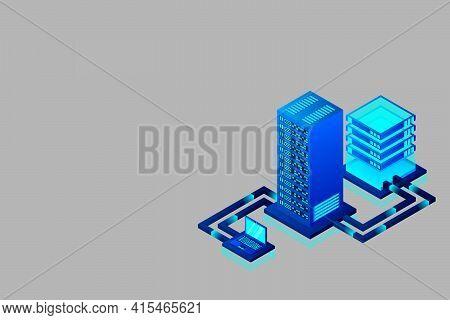Transfer Of User Data To The Server. Data Hosting. Data Flow. Data Storage. Server. Digital Space. D