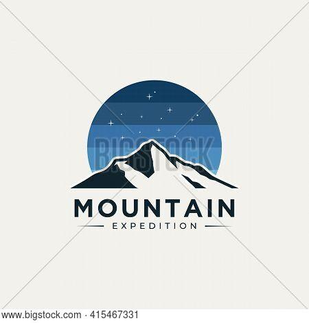 Mountain Expedition Logo Template Vector Illustration Design. Modern Adventure, Travel, Exploration