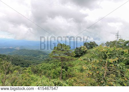 View From Doi Kiew Lom View Point In Mae Hong Son Province, Thailand