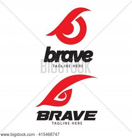B Brave Eye Logo Set. Letter Based Vector Logo