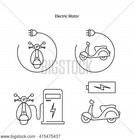 Electric Motor Icon Isolated On White Background. Electric Motor Icon Trendy And Modern Electric Mot
