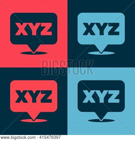 Pop Art Xyz Coordinate System Icon Isolated On Color Background. Xyz Axis For Graph Statistics Displ