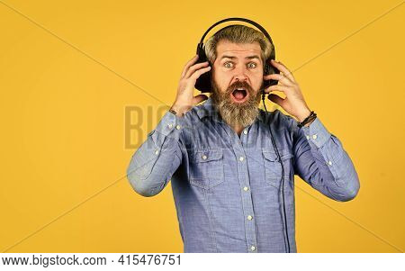 Wow. His Favorite Song. Enjoy Excellent Sound Song In Earphones. Good Mood Playlist. Man With Headse