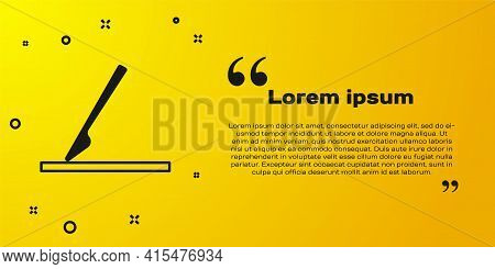 Black Medical Surgery Scalpel Tool Icon Isolated On Yellow Background. Medical Instrument. Vector