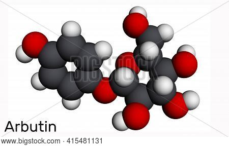 Arbutin, Ursin, Arbutoside  Molecule. It Is Glycoside, Is Found In Foods, Over-the-counter Drugs, An
