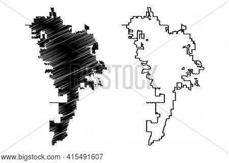 Rochester City, Minnesota (united States Cities, United States Of America, Usa City) Map Vector Illu
