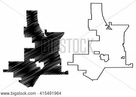 Victorville City, California (united States Cities, United States Of America, Usa City) Map Vector I