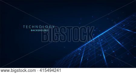 Grid Lines Connect Background.technology Connection Digital Data Concept.vector Abstract Futuristic
