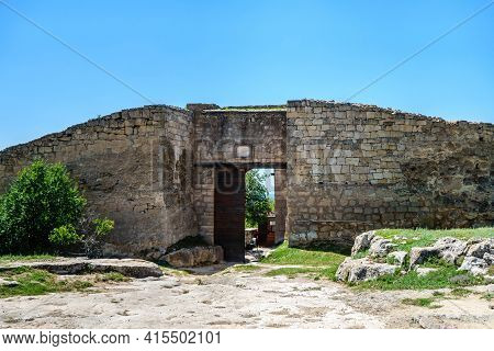 Main Outer Gates Of Ancient Cave City-fortress Chufut Kale, Bakhchisaray, Crimea