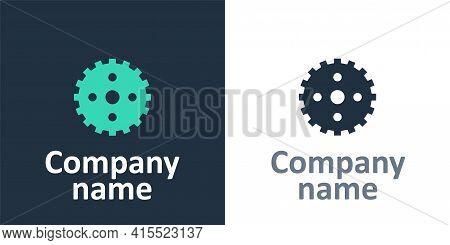 Logotype Bicycle Sprocket Crank Icon Isolated On White Background. Logo Design Template Element. Vec