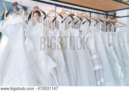 Bride Dress,  White Wedding Dresses In Dress Store