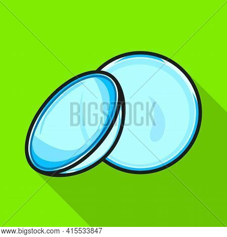 Vector Illustration Of Lense And Contact Sign. Web Element Of Lense And Optical Stock Symbol For Web