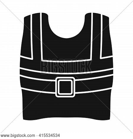 Isolated Object Of Vest And Road Icon. Graphic Of Vest And Uniform Stock Symbol For Web.