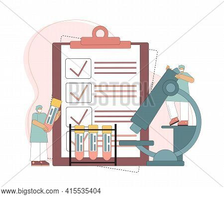 The Concept Of Blood Analysis And Laboratory Research. Doctor Scientist In The Laboratory Analyzes B