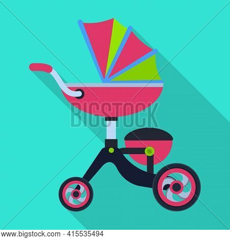 Carriage Vector Icon.flat Vector Icon Isolated On White Background Carriage.