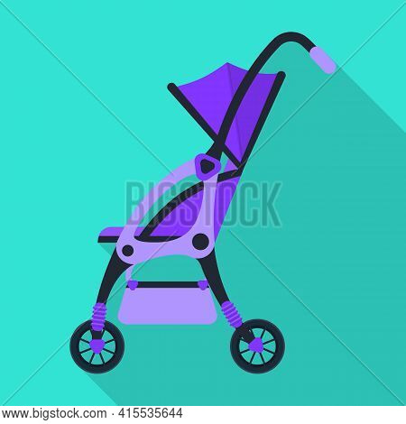 Stroller Vector Icon.flat Vector Icon Isolated On White Background Stroller.