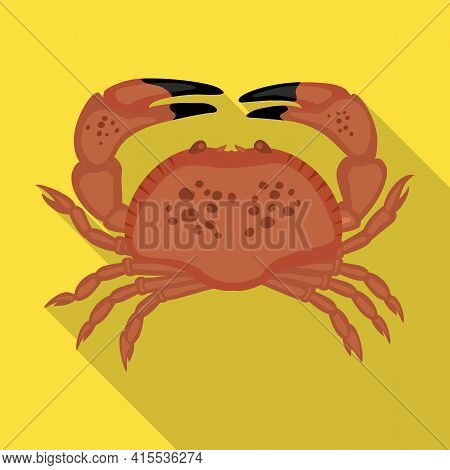Sea Crab Vector Icon.flat Vector Icon Isolated On White Background Sea Crab .