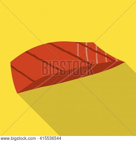 Piece Fish Vector Icon.flat Vector Icon Isolated On White Background Piece Fish.