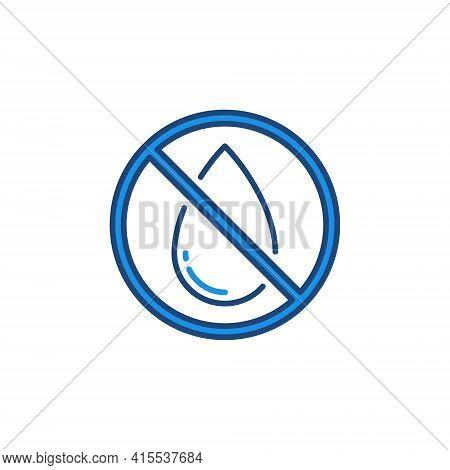 No Water Drop Vector Forbidding Concept Colored Icon