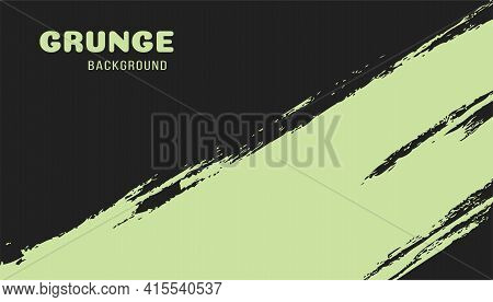 Bright Mint Grungy Background. Colorful Scratched Template. Texture And Elements For Design