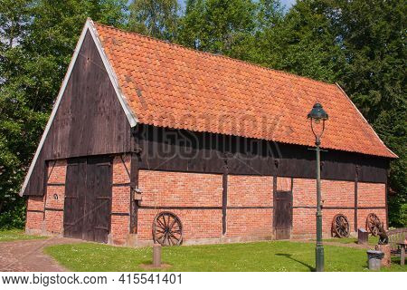 Old Dutch Barn In Ootmarsum, Overijssel, The Netherlands