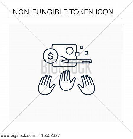 Popular Work Line Icon. Demanded Digital Art. Many Buyers. Desirable Work. Digitalization Concept. I