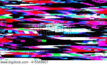 Glitch Effect Background. Abstract Noise Effect. Video Damage Error. Digital Signal Damage Visualiza