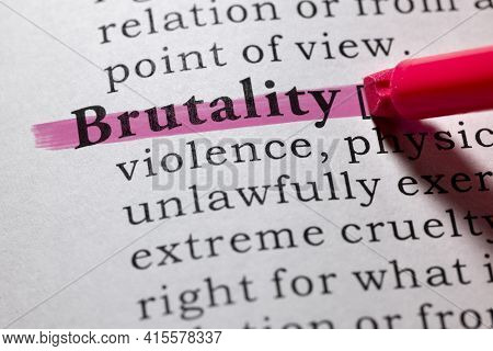 Fake Dictionary Word, Dictionary Definition Of Brutality