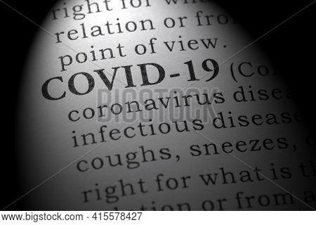 Fake Dictionary, Dictionary Definition Of Covid-19, Coronavirus Disease 2019.