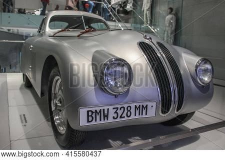Germany, Munich - April 27, 2011: The Bmw 328 Achieved Outstanding Sporting Success In 1939-40. The