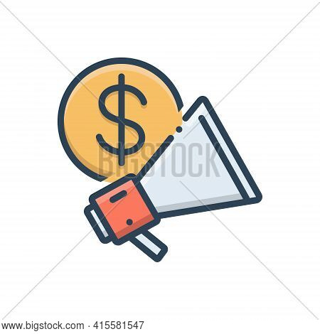 Color Illustration Icon For Business-advertising  Business Advertising  Advertisement Blurb