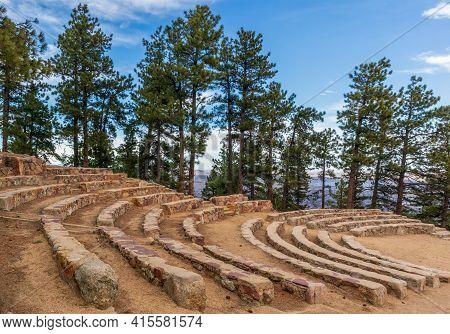 Sunrise Circle Amphitheater On The Top Of Flagstaff Mountain In Boulder Mountain Park, Colorado