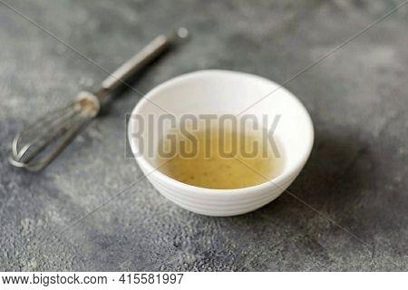 For Dressing Combine Olive Oil, White Wine Vinegar, Jerusalem Artichoke Syrup, Salt And Ground Peppe