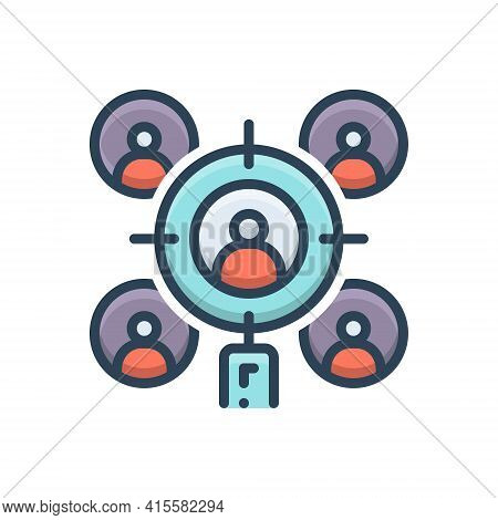 Color Illustration Icon For Target-audience Target Audience Team Checklist