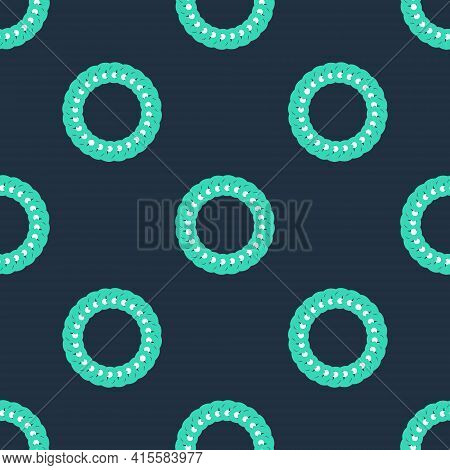Line Laurel Wreath Icon Isolated Seamless Pattern On Black Background. Triumph Symbol. Vector