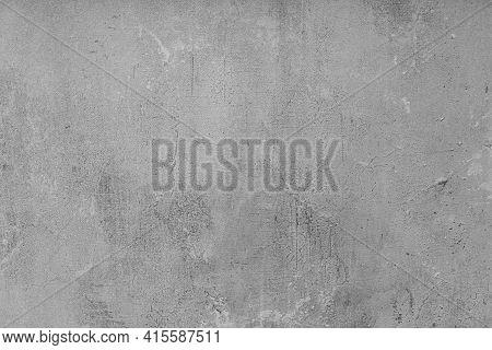 Gray Rough Rough Wall, Background. Black Underground