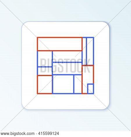 Line House Edificio Mirador Icon Isolated On White Background. Mirador Social Housing By Mvrdv Archi