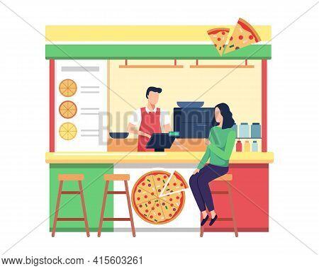 Pizza Vendor Shop Concept