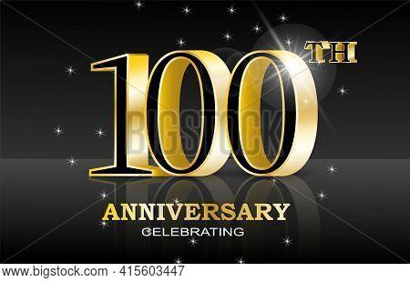 100th Anniversary Celebration. Abstract Design For Concept Design. Happy Birthday Concept. Web Banne