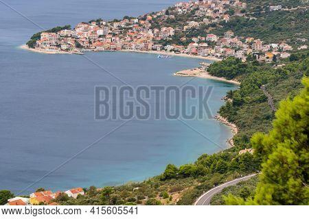 Beautiful landscape of the Makarska Riviera at Adriatic Sea, Dalmatia, Croatia