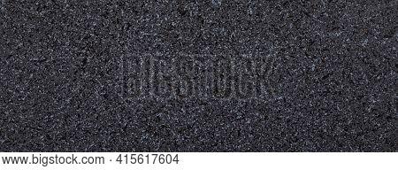Grey, Black And White Granite Texture, Granite Surface And Background, Panoramic Image