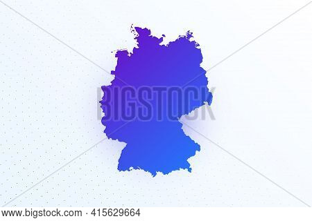 Map Icon Of Germany. Colorful Gradient Map On Light Background. Modern Digital Graphic Design. Light