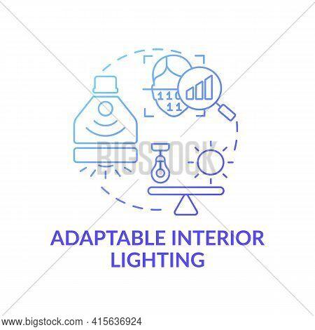 Adaptable Interior Lighting Concept Icon. Smart Office Idea Thin Line Illustration. Individual Prefe