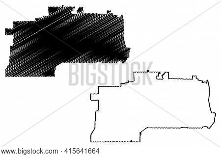 West Jordan City, Utah (united States Cities, United States Of America, Usa City) Map Vector Illustr