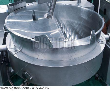 Blender Machine. Large Barrel Commercial Food Mixer For Food Industry.