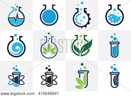Lab Logo Template Vector Design, Lab Logo Science