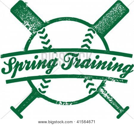 Spring Training Baseball Stamp