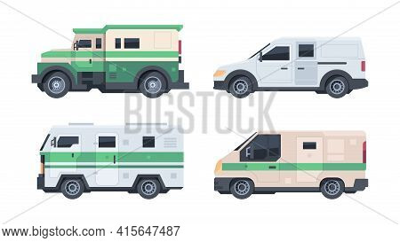 Armored Vehicle. Security Cash Heavy Truck For Bank Money Transportation Finance Services Garish Vec